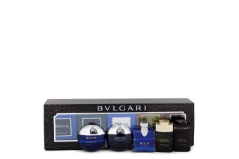 Bvlgari Bvlgari Man In Black Gift Set - Travel Size Gift Set Includes Bvlgari Aqua Atlantique, Aqua Pour Homme, BLV, Man Wood Essence, Man in Black all in . sizes