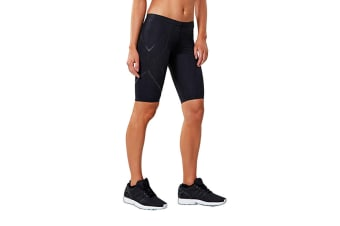 2XU Women's Elite MCS Compression Short (Black/Nero, Size S)