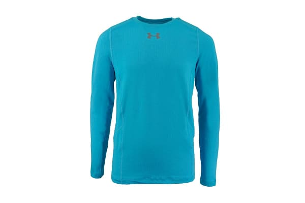 Under Armour Boys' ColdGear Infrared Everyday L/S Printed Shirt (Sky Blue/Steel, Size M)