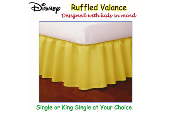 Yellow Ruffled Bed Valance by Disney