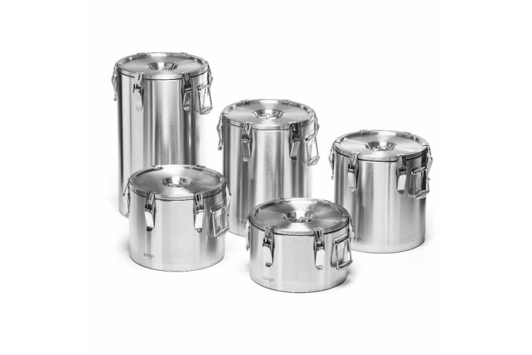 SOGA 304 10L Stainless Steel Insulated Food Carrier Food Warmer