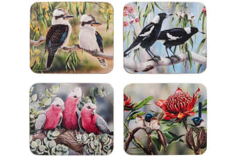 Ashdene Australian Bird and Flora Coaster Set of 4