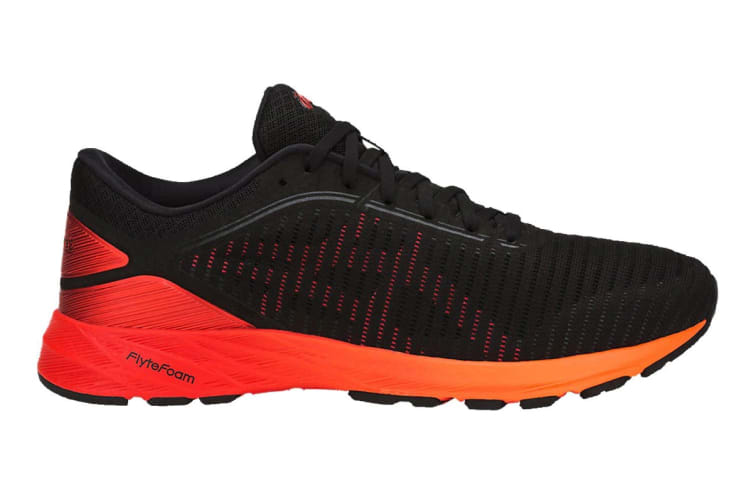 ASICS Men's DynaFlyte 2 Running Shoe (Black/Fiery Red/Shocking Orange, Size 10.5)