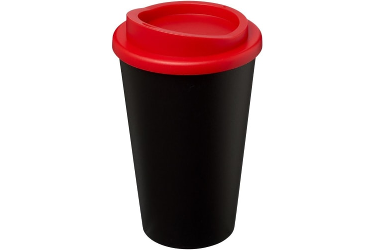 Americano 350ml Insulated Tumbler (Solid Black/Red) (One Size)