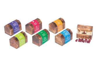 3 x Keep Calm Incense Cone Wooden Box + 10 Cones Assorted