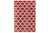 Trellis Stylish Design Rug Red