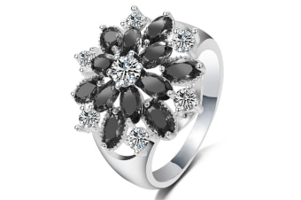 925 Sterling Silver Cubic Zirconia Snowflake Ring