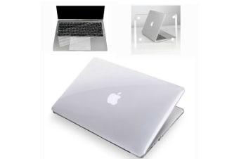 "Rubberized Hard Case Shell+Keyboard Cover for Macbook Pro 13/15"" Air 11/13"" Inch-Crystal/Clear-Macbook Pro Retina 13.3"