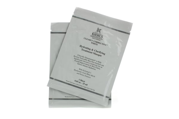 Kiehl's Clearly Corrective White Hydrating & Clarifying Treatment Masque (6 Sheets) (6x25ml/0.85oz)
