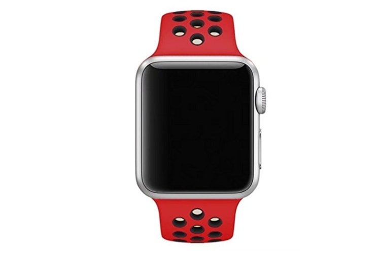 Soft Silicone Replacement Band Watch Band For Apple Watch Series 5 4 3 2 1 Watch Band for Iwatch 5 Red Black 38MM 40MM