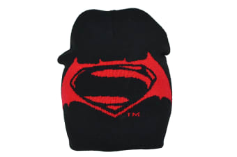 Batman V Superman Childrens/Boys Official Roll Down Hat (Black/Red) (Junior)