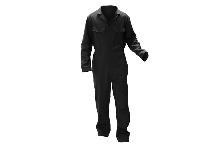Warrior Mens Stud Front Coverall (Black) (L/R)