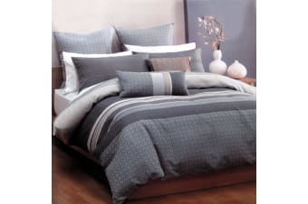 Watson Silver Quilt Cover Set King