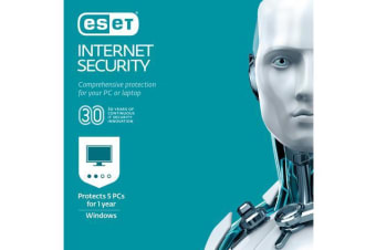 Eset Internet Security for 5 Devices 1 Year (OEM Retail Card - Single)