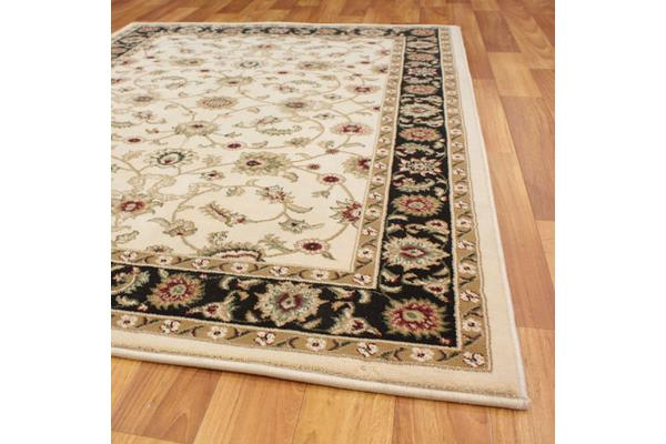 Classic Rug Ivory with Black Border 230x160cm
