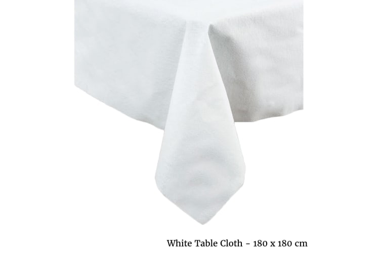 White Table Cloth Square by IDC Homewares