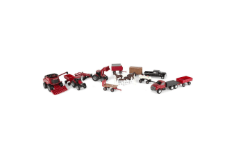 Case IH 1:64 Scale Farm Agriculture Diecast Vehicle Animals Playset Toys Kids