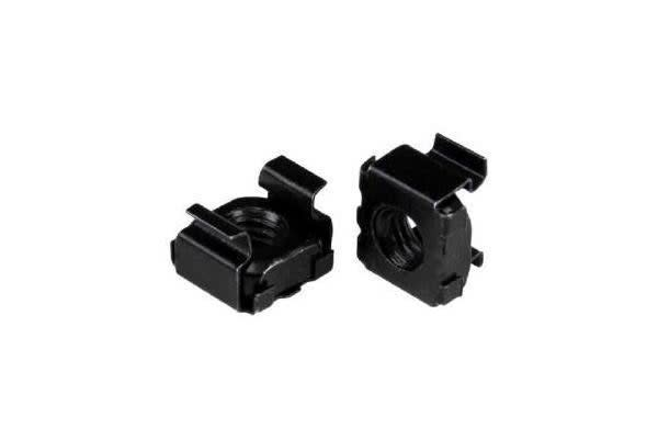 STARTECH M5 Cage Nuts - 50 Pack - M5 Nuts - 50 Pack Black - M5 Mounting Cage Nuts for Server Rack & Cabinet