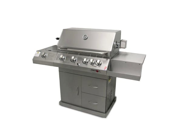 NEW Euro-Grille 6 Burner BBQ Kitchen Grill Outdoor Barbeque Gas Stainless Steel