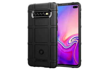 For Samsung Galaxy S10 PLUS Case Black Silicone Back Cover