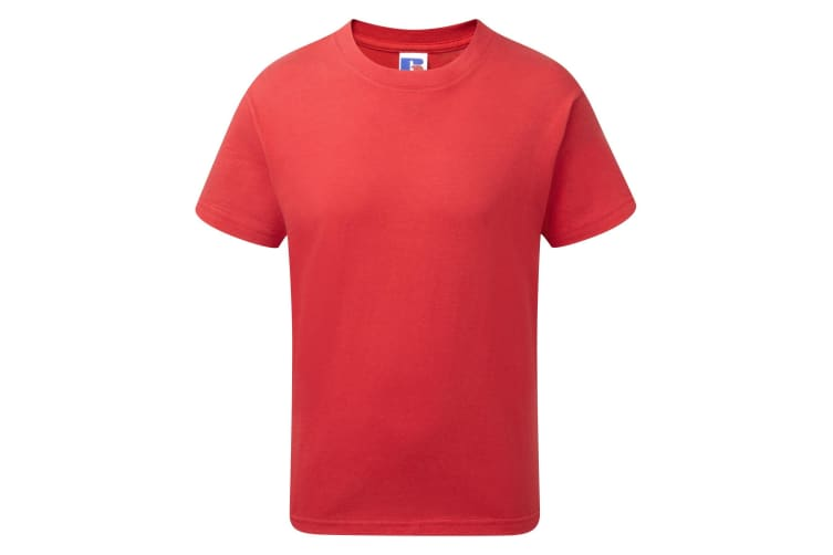 Jerzees Schoolgear Childrens/Kids Slim Fit Cotton T-Shirt (Classic Red) (13-14 Years)