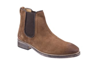 Cotswold Mens Corsham Town Leather Pull On Casual Chelsea Ankle Boots (Camel) (7 UK)