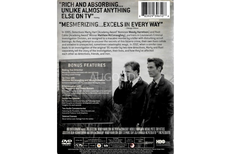 True Detective - Rare- Aus Stock DVD PREOWNED: DISC LIKE NEW