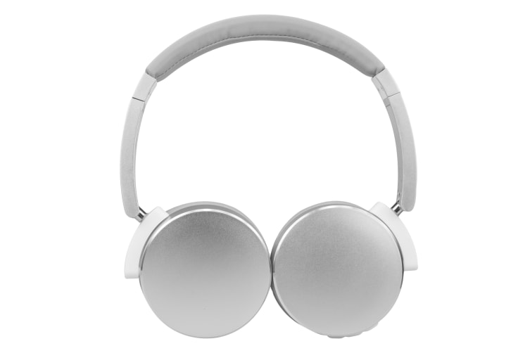 TODO Stereo Bluetooth 5.0 Headphone Earphones Rechargeable Battery Neodymium Driver - Silver