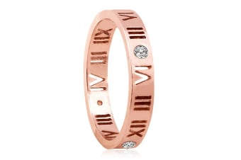 Roman Reign Ring-Rose Gold/Clear Size US 9