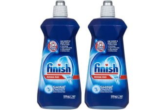 2x Finish Dishwashing Rinse Aid Shine & Protect Shiny/Clean/Fast Drying Dishes