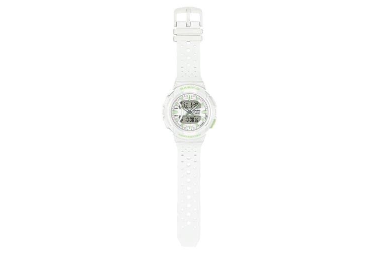 Casio Baby-G Analog Digital Female Watch with Resin Band - White/Lime (BGA240-7A2)