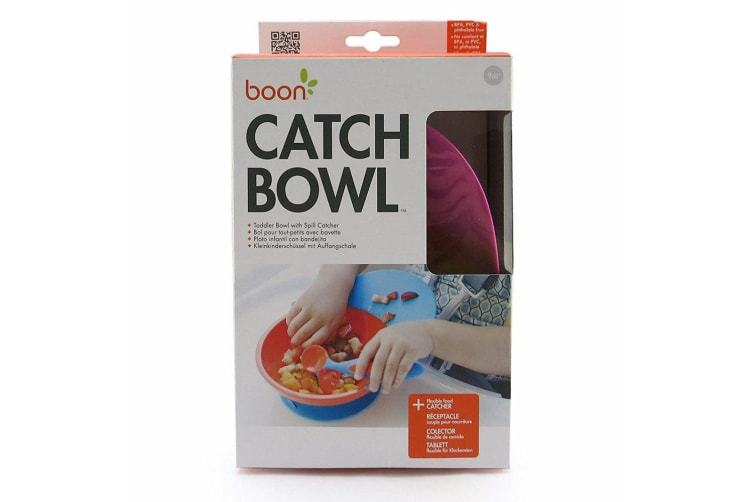 2PK Boon Catch 9m+/Baby Toddler Feeding Bowl Food Spill Catcher w/ Suction PK/PP