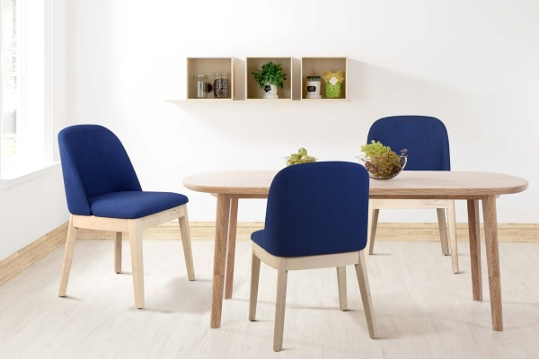 Shangri-La Set of 4 Edith Dining Chairs (Navy)