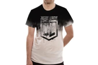 Justice League Unisex Adults Jumbo Print T-Shirt (White)