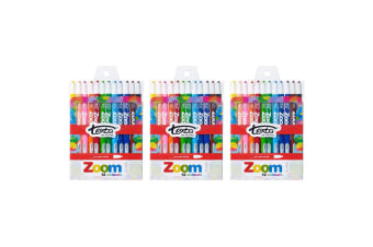 3x 12pc Texta The Original Zoom Non Toxic Twist Crayons Colouring/Drawing Kids