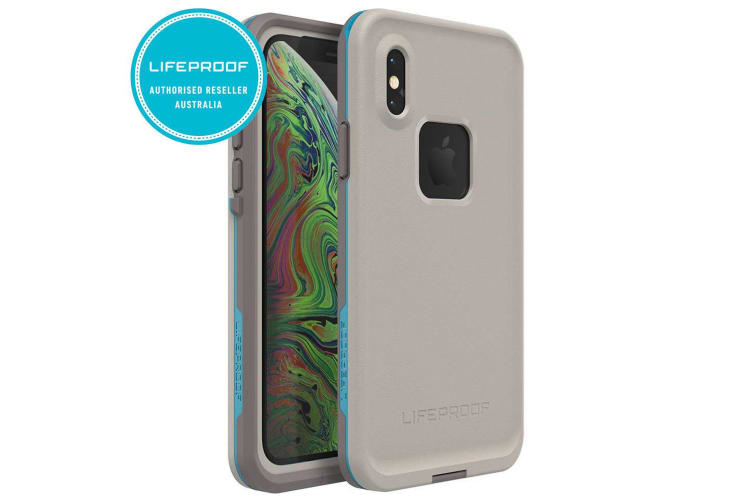 Lifeproof Fre Waterproof Case/Cover Protection for iPhone XR Body Surf Grey/Blue