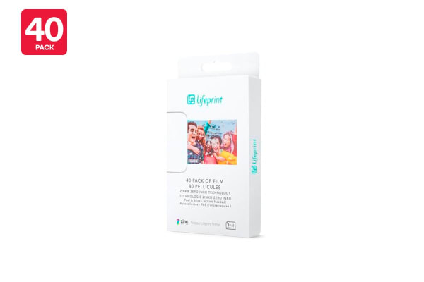 40 - Pack Lifeprint 3 x 4.5 Sticky Back Photo Film (90024870)