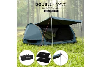 Swag Double with Free Standing - NAVY BLUE