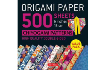 Origami Paper 500 sheets Chiyogami Designs 6 inch 15cm: Instructions for 8 Projects Included - High-Quality Origami Sheets Printed with 12 Different Designs