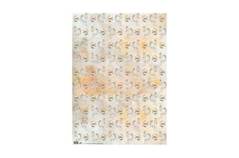 Deckled Edge Gift Wrap (Pack Of 2) (Horse and Horseshoes)