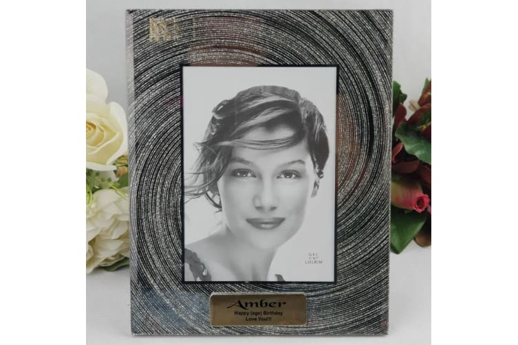 Personalised Birthday 5x7 Photo Frame - Silver Glitter