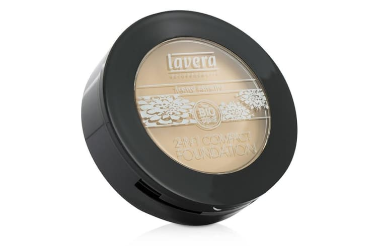 Lavera 2 In 1 Compact Foundation - # 01 Ivory 10g
