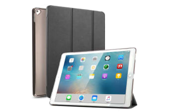 For iPad Pro 12.9 Inch 2017 PU Leather Case Cover For iPad Pro-Black