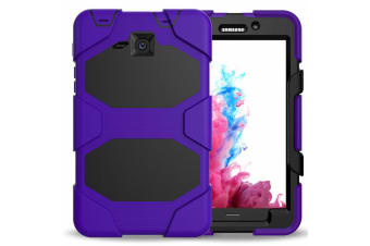 For Samsung Samsung Galaxy Tab A A2 7.0 T280 T285 Shockproof Hybrid Tablet Case Cover--Purple