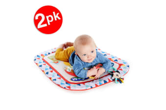 2x Bright Starts Mickey Mouse Camping Friends Baby Infant Tummy Prop Mat Toy 0m+