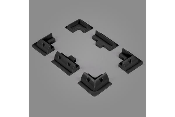 Solar Panel Corner Cable Mounting Bracket kit BLACK