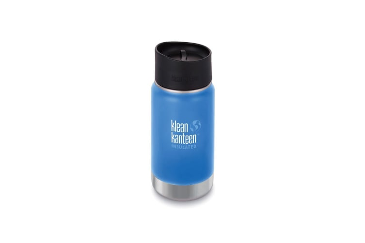 Klean Kanteen 12oz Water Bottle Wide Insulated Cafe Cap Pacific Sky
