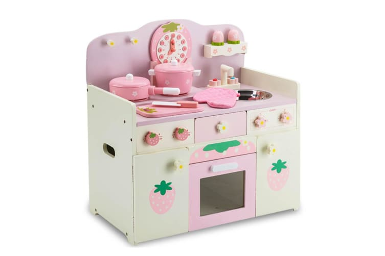 fb83f3804ecd ROVO KIDS Wooden Kitchen Pretend Play Set Kids Toy Home Cookware Toddlers