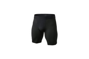 Men'S Compression Shorts Baselayer Cool Dry Sports Tights - Black Black L