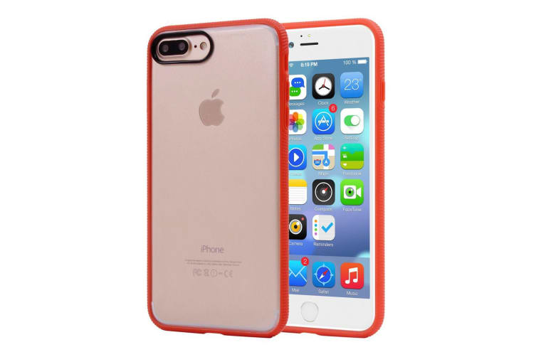 For iPhone 8 PLUS 7 PLUS Case Stylish Frosted Guard Protective Cover Orange